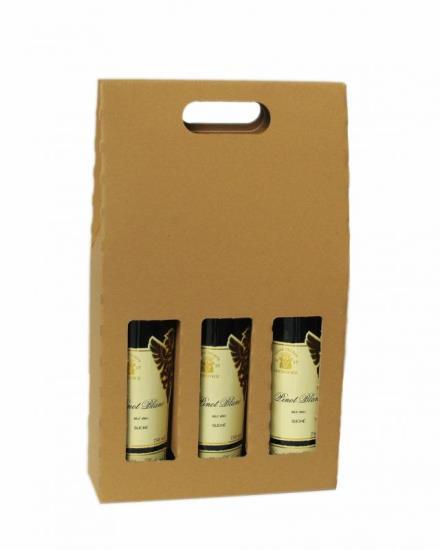 Dárkové kartonové obaly na 3 lahve vína