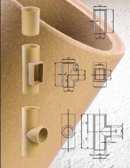 Keramické vložky a tvarovky  PKZ Keramika Poštorná