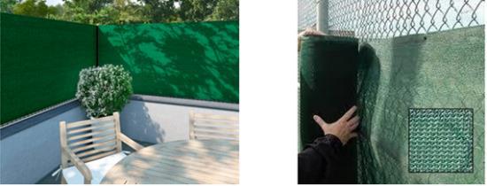 Stínicí tkaniny na ploty ke snížení průhlednosti