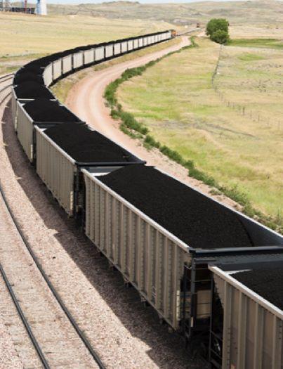 Železniční přeprava pevných paliv - uhlí, koksu, antracitu, pelet