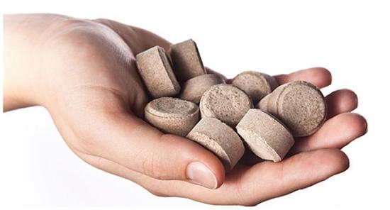 Tabletované pomalu rozpustné hnojivo