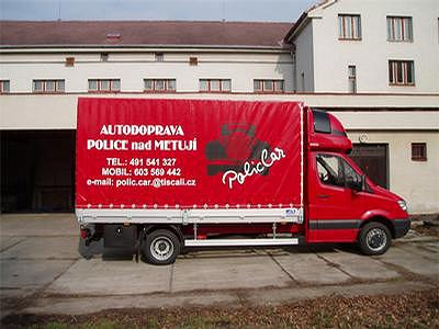 Reklamní plachta na nákladní automobil, ŽÍDEK tisk s.r.o.