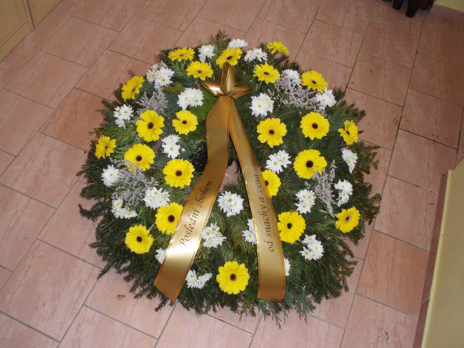 Smuteční věnec, Marie - pohřební služba Opava