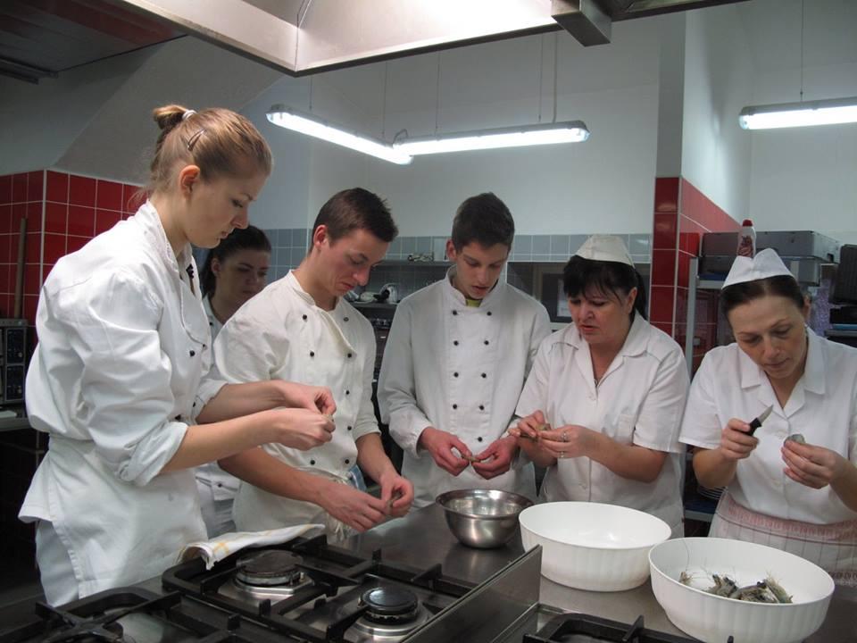 Praktická součást výuky v oboru gastronomie