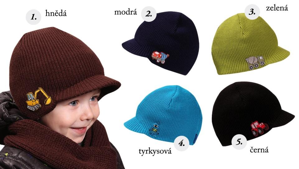 9ef54db1bd1 Dětské pletené čepice