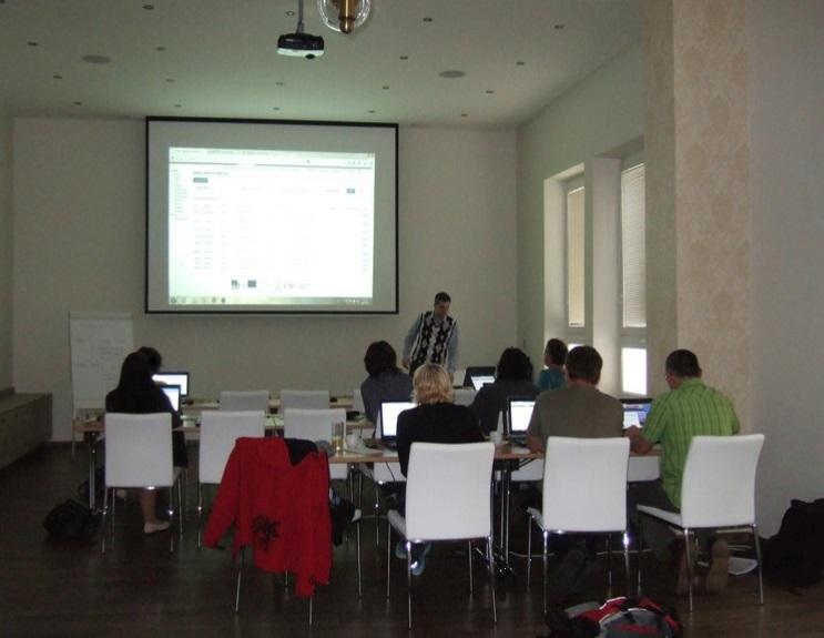 Salonek restaurace Vesna pro pořádání firemních školení či konferencí
