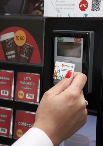 Automaty Delikomat jsou kompatibilní s různými platebními metodami