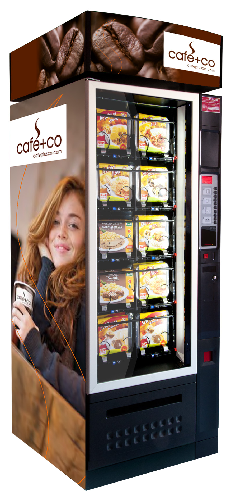 Delikomat obědový automat Damian EUR7 SNACK EUROPA