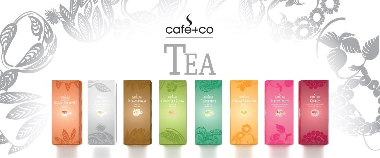 Kvalitní porcované čaje Cafe+Co Tea