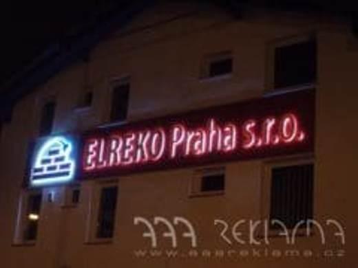 Osvětlené 3D písmo, světelná reklama na míru
