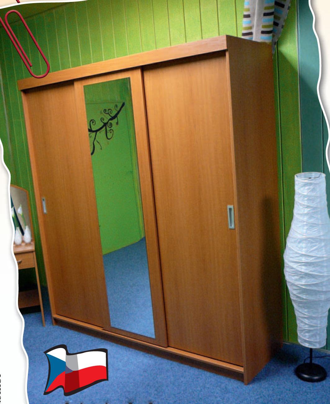 Skříň s posuvnými dveřmi, Nábytek Pohodlí Humpolec