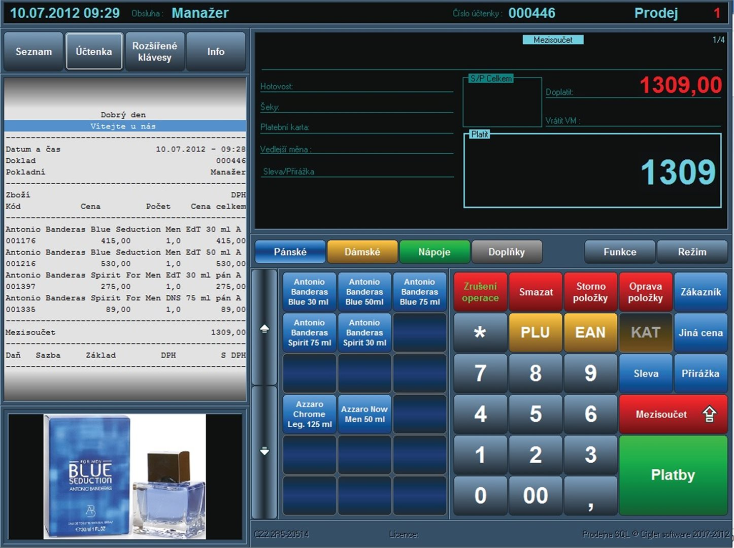 Pokladní software pro EET, M-SOFT, spol. s r.o. Jihlava