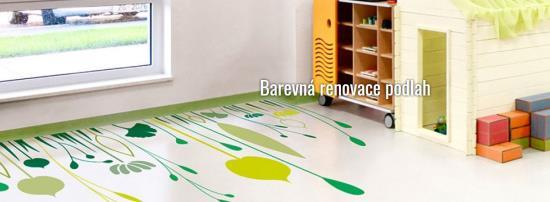 Společnost Dema-servis se zabývá barevnou renovací, která ozvláštní každou podlahu.