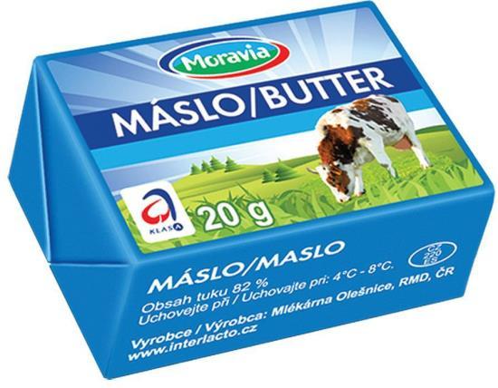 Čerstvé máslo, VO mléčné výrobky, JIMA - SPOL, s.r.o., Znojmo