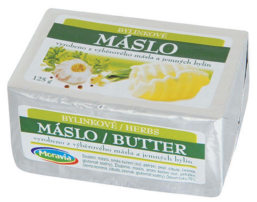 Bylinkové máslo, velkoobchodní prodej, JIMA - SPOL, s.r.o., Znojmo