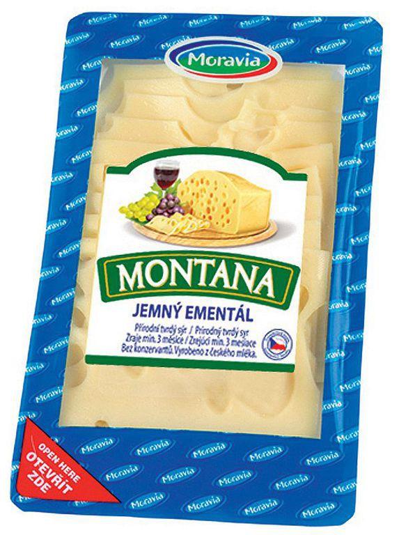 Tvrdý sýr Montana plátkový, JIMA - SPOL, s.r.o., Znojmo