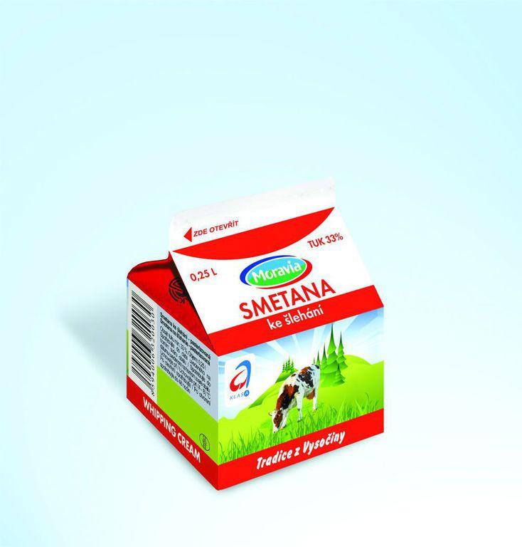 Smetana ke šlehání, VO mléčné produkty, JIMA - SPOL, s.r.o., Znojmo