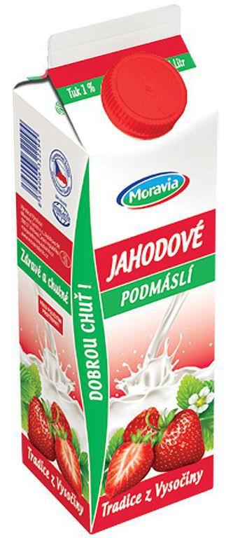 Jahodové podmáslí, VO s potravinami, JIMA-SPOL., s.r.o., Znojmo