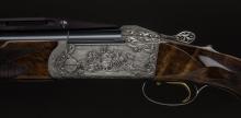 Ukázka rytiny na zbrani, Prodejna ROYAL HUNT v Berouně