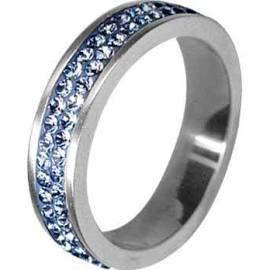 Prsten z oceli s kamínky Swarovski - Zlatnictví v Ivančicích