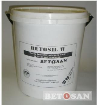 Betosil W vodou ředitelná nátěrová kompozice, e-shop se stavební chemií BETOSAN