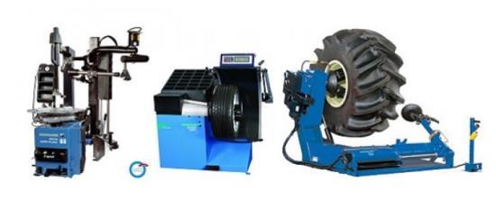 Přístroje, zařízení a nářadí pro vybavení pneuservisů