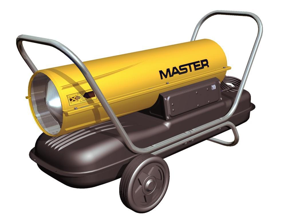 Elektrická, plynová či naftová topidla Master pro vysoušení a vytápění