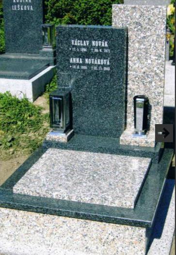 Kamenické práce včetně zhotovení náhrobku s fotkou