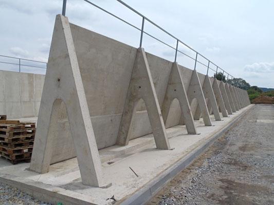 Silážní žlaby, betonárna HB Beton, s.r.o. Jindřichův Hradec