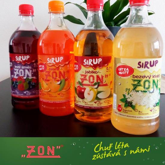 Extra husté sirupy od společnosti ZON, spol. s r.o. z Třebíče jsou ideální pro výrobu domácích šťáv a limonád