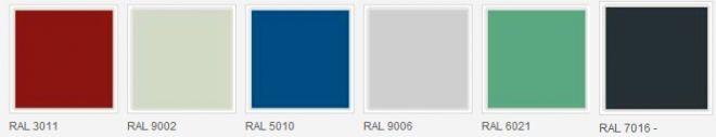 Sendvičové izolační PIR panely v barevných odstínech dle vzorníku RAL