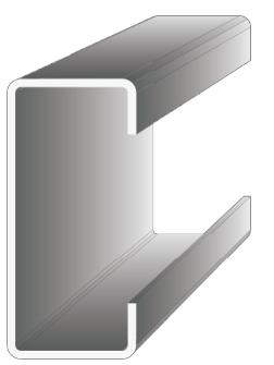Konstrukční pevnostní profily z pozinkovaného ocelového plechu typu C