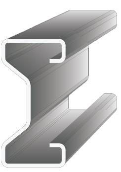 Kontrukční pevnostní profil typu E - odolné proti korozi