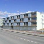 Bytová výstavba třípodlažních domů včetně garážových stání