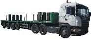 Převoz nadměrných a nadrozměrných nákladů tahačem Scania