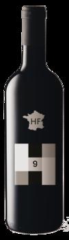 Cuveé HF 9 2013 temně červené barvy - Hort France