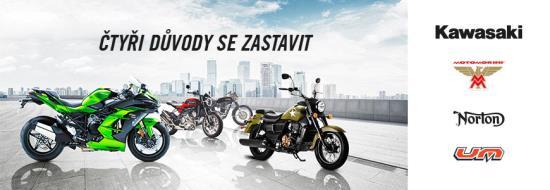 Motocykly Norton, Kawasaki, UM, Moto Morini, Kuberg - Rimoto s.r.o. Třebíč