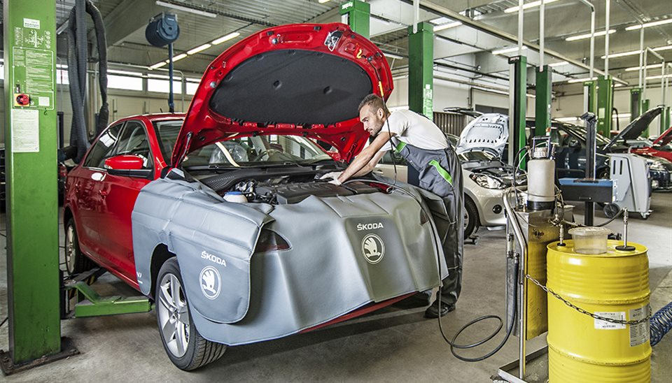 Pravidelné servisní prohlídky vozů Škoda v Autosalonu F3K Třebíč