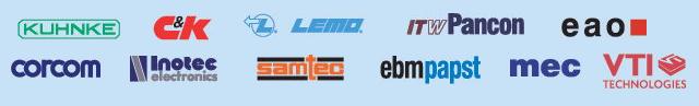 Spínače, ventilátory, konektory, elektromagnety, relé, ventily, přístrojové přepínače