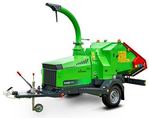 Štěpkovač Combi s pásovým dopravníkem nabízí GreenMech s.r.o. Břeclav