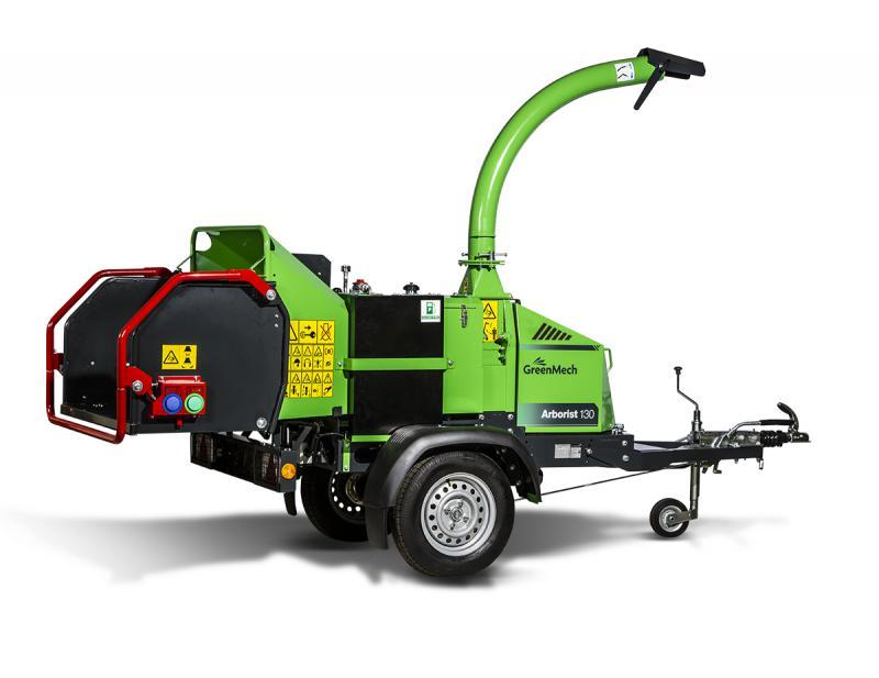 Štěpkovač GreenMech Arborist štěpkuje až do průměru 200 mm