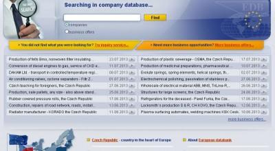 Zahraniční obchodní příležitosti, Evropská databanka