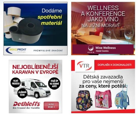 Ukázky remarketingových bannerů, Evropská databanka