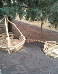 Dřevěné herní konstrukce na dětská hřiště a zahrady MŠ