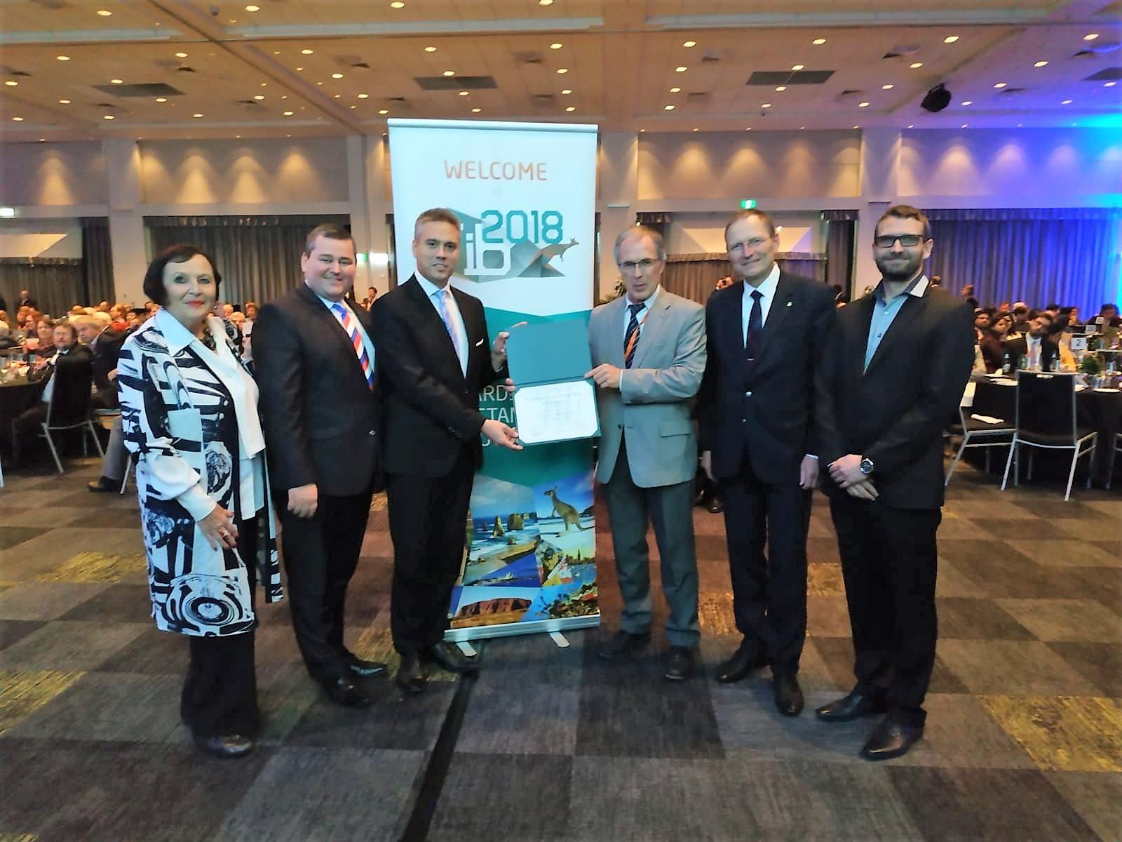 Čelákovická lávka oceněná na fib sympoziu v australském Melbourne