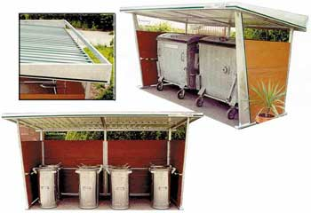Výroba přístřeší pro odpadové nádoby s kvalitní krytinou