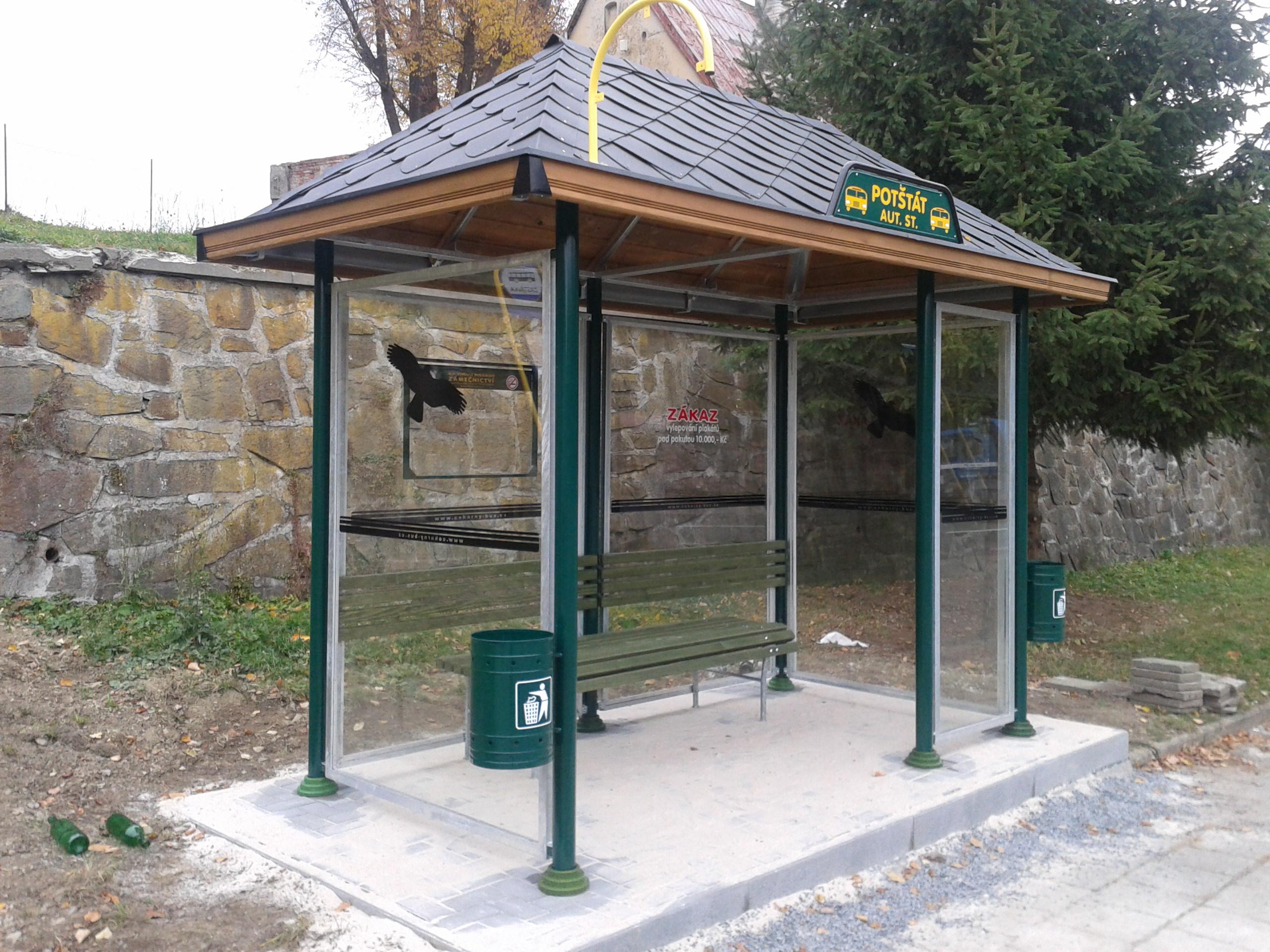 Jednotný městský mobiliář, Čekárny - bus