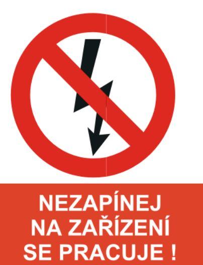 Samolepicí označení elektra - KRIŽAN, s.r.o.