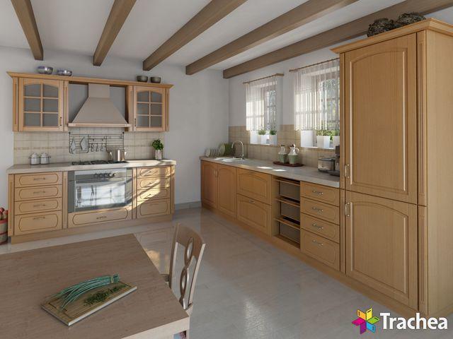 Elegantní kuchyně s fóliovanými dvířky T.classic