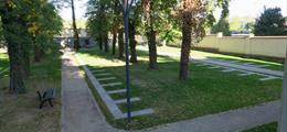 Strašnický hřbitov s loučkou vsypu a rozptylu